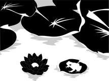 Vettore in bianco e nero della natura Fotografie Stock