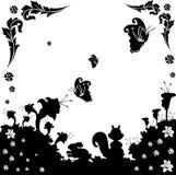 Vettore in bianco e nero della natura Immagine Stock
