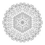 Vettore in bianco e nero monocromatico dell'ornamento del merletto Immagine Stock Libera da Diritti
