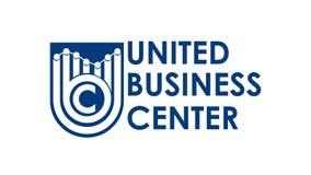 Vettore bianco ENV di logo di UBC illustrazione di stock