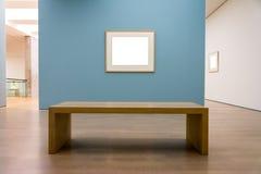 Vettore bianco isolato percorso moderno di Art Museum Frame Wall Clipping fotografie stock