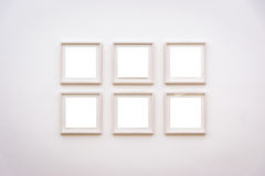 Vettore bianco isolato percorso moderno di Art Museum Frame Wall Clipping fotografia stock