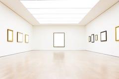 Vettore bianco isolato percorso moderno di Art Museum Frame Wall Clipping immagini stock libere da diritti