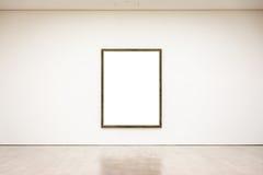 Vettore bianco isolato percorso moderno di Art Museum Frame Wall Clipping immagine stock