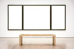 Vettore bianco isolato percorso moderno di Art Museum Frame Wall Clipping immagine stock libera da diritti