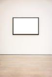 Vettore bianco isolato percorso moderno di Art Museum Frame Wall Clipping fotografie stock libere da diritti