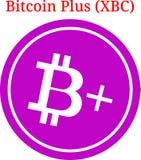 Vettore Bitcoin più il logo di XBC Fotografia Stock Libera da Diritti