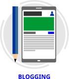 Vettore - blogging Fotografia Stock