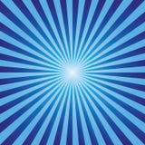 Vettore blu dei raggi di esplosione astratta d'annata del fondo Fotografia Stock Libera da Diritti