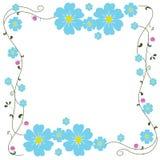 Vettore blu del fiore della pagina Fotografia Stock