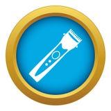 Vettore blu dell'icona del tagliatore isolato illustrazione vettoriale
