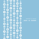 Vettore blu e bande bianche dei fiocchi di neve verticali Fotografia Stock