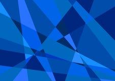 Vettore blu poligonale del fondo Fotografia Stock