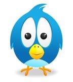 Vettore blu sveglio dell'uccello Immagine Stock