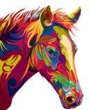 Vettore capo del cavallo Fotografie Stock Libere da Diritti
