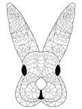 Vettore capo di coloritura del coniglio per gli adulti illustrazione vettoriale