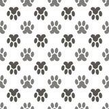 Vettore Cat Animal Paw Pattern senza cuciture Fotografia Stock Libera da Diritti