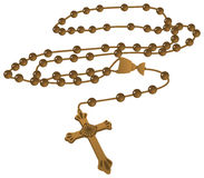 Vettore cattolico elegante del rosario di Brown royalty illustrazione gratis