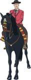 Vettore Cavaliere su un cavallo Fotografia Stock