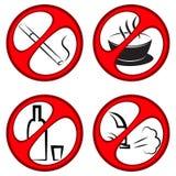 Vettore che proibisce i segni Fotografie Stock Libere da Diritti