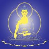 Vettore che si siede Buddha royalty illustrazione gratis