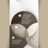 Vettore che sovrappone il fondo geometrico di infographics di forme Immagini Stock