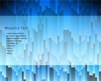 Vettore che sovrappone il fondo geometrico di infographics di forme illustrazione vettoriale