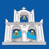 Vettore Chiesa greca Fotografie Stock Libere da Diritti