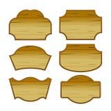 Vettore classico d'annata dell'etichetta di legno del confine Immagine Stock Libera da Diritti