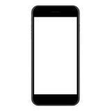 Vettore, colore nero opaco del telefono del modello su fondo bianco royalty illustrazione gratis