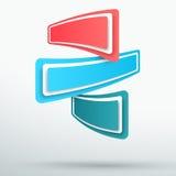 Vettore Colourful astratto delle insegne 3d di titolo di Infographic 3 Immagini Stock Libere da Diritti
