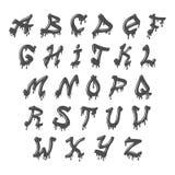 Vettore completo di alfabeto di lerciume Immagine Stock