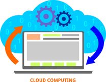 Vettore - computazione della nuvola Immagini Stock Libere da Diritti