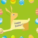 Vettore - coniglio felice di Pasqua illustrazione di stock