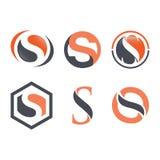 Vettore corporativo di progettazione di logo della lettera S di affari immagini stock libere da diritti
