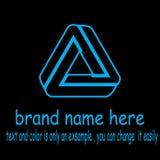 Vettore creativo di logo del triangel illustrazione vettoriale