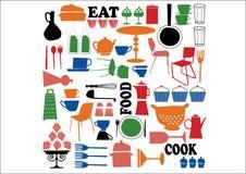 Vettore - cucinare elemento Fotografia Stock
