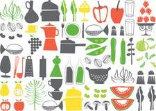 Vettore - cucinare gli elementi Fotografia Stock Libera da Diritti