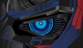 Vettore cyber del fondo dell'occhio fotografia stock libera da diritti