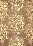 Vettore d'annata del fondo del modello Decorazioni d'avanguardia dell'ornamento nel colore cuprico Fotografia Stock Libera da Diritti