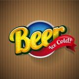 Vettore d'annata del segno del manifesto della birra illustrazione di stock
