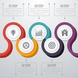 Vettore 3d Infographic di cronologia Fotografie Stock