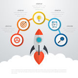 Vettore 3d Infographic di cronologia Immagini Stock