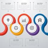 Vettore 3d Infographic di cronologia Fotografia Stock Libera da Diritti