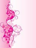 Vettore decorato di disegno del cuore Fotografia Stock