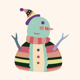 Vettore degli elementi del fumetto del pupazzo di neve, ENV Immagini Stock Libere da Diritti