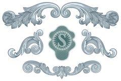 Vettore degli elementi di disegno del dollaro Immagine Stock Libera da Diritti
