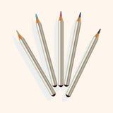 Vettore degli elementi di tema dell'ombretto e dell'eye-liner, ENV Fotografia Stock