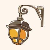 Vettore degli elementi di tema della lampada di via, ENV Immagini Stock Libere da Diritti