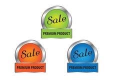 Vettore dei distintivi di garanzia di soddisfazione e di qualità Immagine Stock